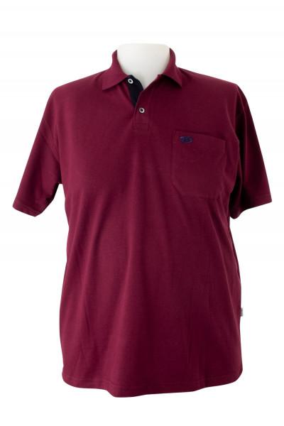 Camiseta Gola Polo - Vinho - Malha Piquet Bordada - Modelo 2542