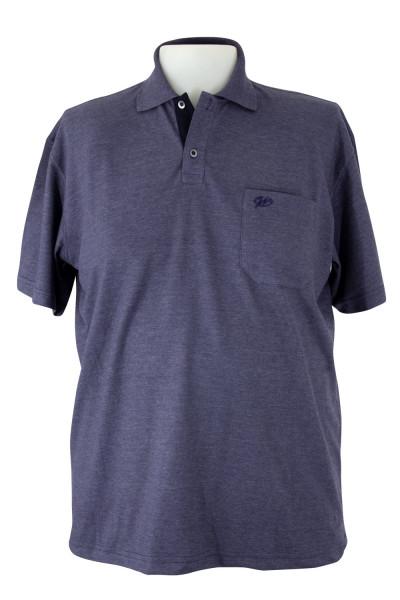 Camiseta Gola Polo - Preto Mescla - Malha Piquet Bordada