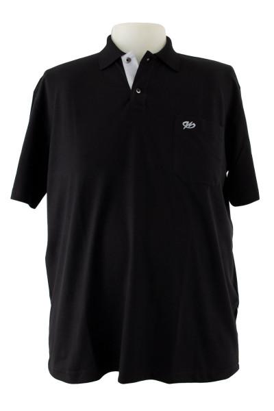 Camiseta Gola Polo - Preta - Malha Piquet Bordada