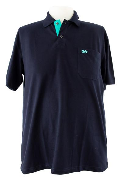 Camiseta Gola Polo - Marinho - Malha Piquet Bordada