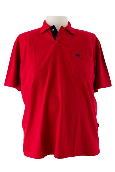 Camiseta Gola Polo - Vermelha - Malha Piquet Bordada