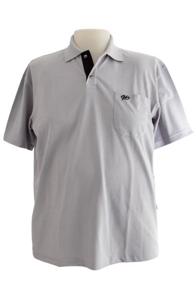 Camiseta Gola Polo - Prata - Malha Piquet Bordada
