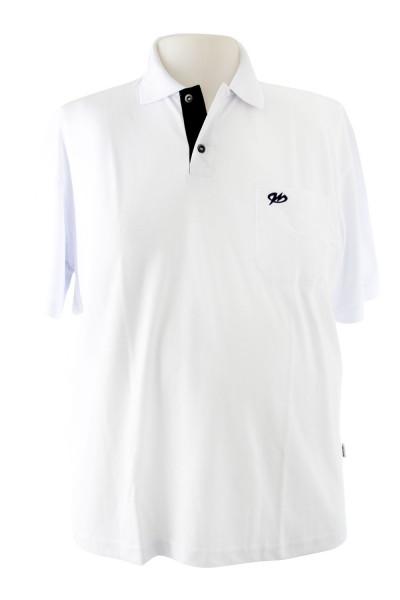 Camiseta Gola Polo - Branca - Malha Piquet Bordada - Modelo 2542